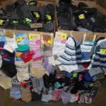 lot de 800 paires de chaussettes