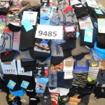 palette de 600 paires de chaussettes