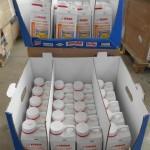 palette de 98 bidons de déboucheur acide