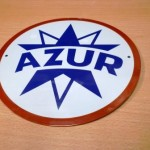 plaque automobile AZUR