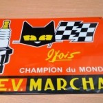 plaque automobile MARCHAL