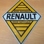 plaque automobile RENAULT