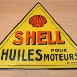 plaque automobile SHELL