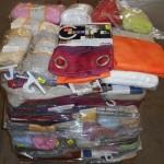 lot de 200 pièces de rideaux, nappes, draps, voilage, etc