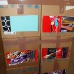 lot de scolaire pochettes, classeurs, stylos, cahiers, etc