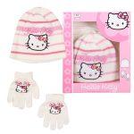48 boites contenant bonnet + gant Hello Kitty tailles 52 54