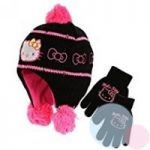 48 sets bonnets péruviens + gants Hello Kitty Tailles 52 54