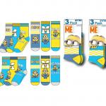 colis de 96 pack de 3 chaussettes Les Minions