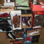lot de 70 paires de chaussures en boite hommes, femmes et enfants de marque DESTROY, ARA, MIZ MOOZ, SPECTRE, CHICA10…..
